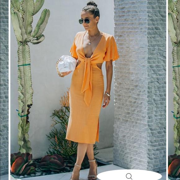 Cutout linen dress from vici